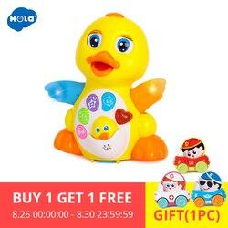 HOLA 808 Baby Spielzeug EQ Flattern Gelb Ente Infant Brinquedos Bebe Elektrische Universal Spielzeug für Kinder Kinder 1-3 jahre alt