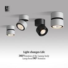 Led Downlight 360 Degrees Rotatable Surface Mounted 15W LED Ceiling Spot Light Indoor Living room Foyer Lamp