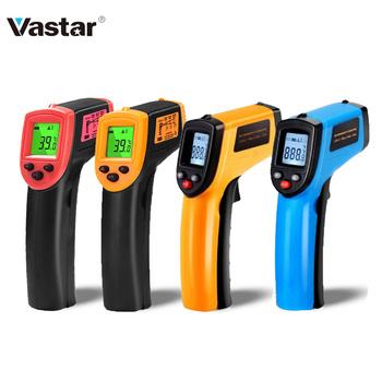 Vastar cyfrowy regulator temperatury z GM320 termometr bezdotykowy termometr na podczerwień miernik temperatury pirometr Laser punktowy IR-50 ~ 600 C tanie i dobre opinie NONE CN (pochodzenie) Vastar GM320 120 ° C i Powyżej DIGITAL Bateria AAA Ręczny 1 9 Cali i Pod Household Infrared Thermometer