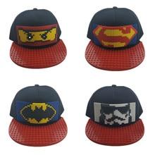 Children's DIY baseball cap summer personality building blocks assembled cartoon men and women hip hop parent-child cap