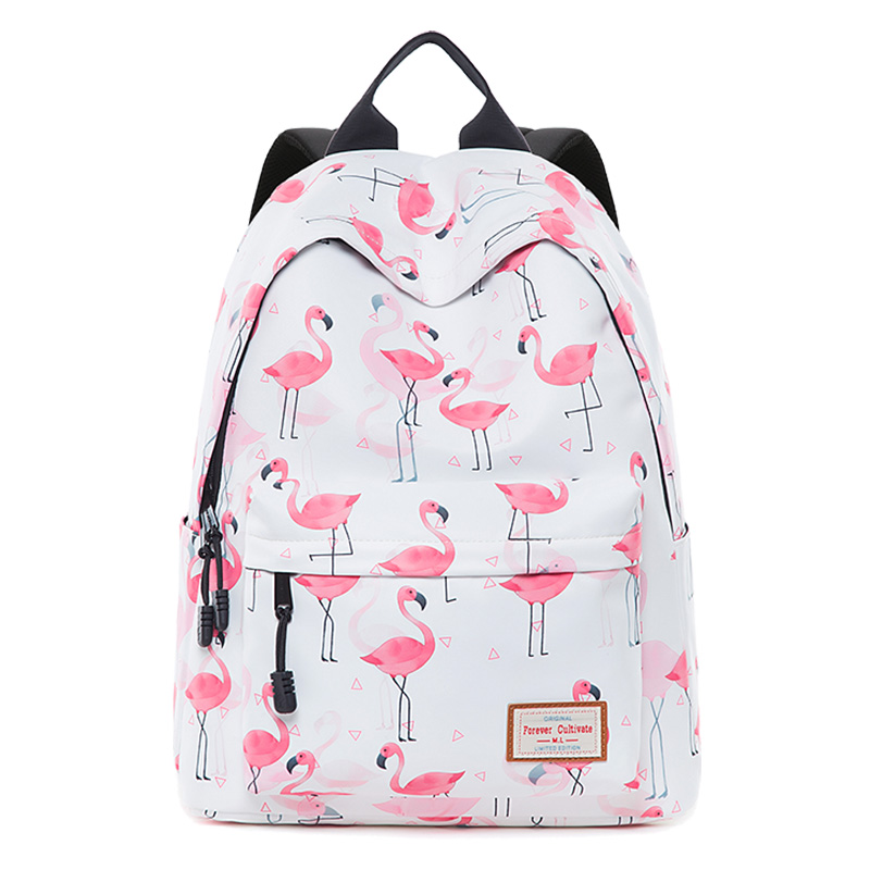 Flamingo Backpack Bag For Teenage Girls Big Capacity Travel Bagpack Durable Printed School Bags College Student Bookbag Children