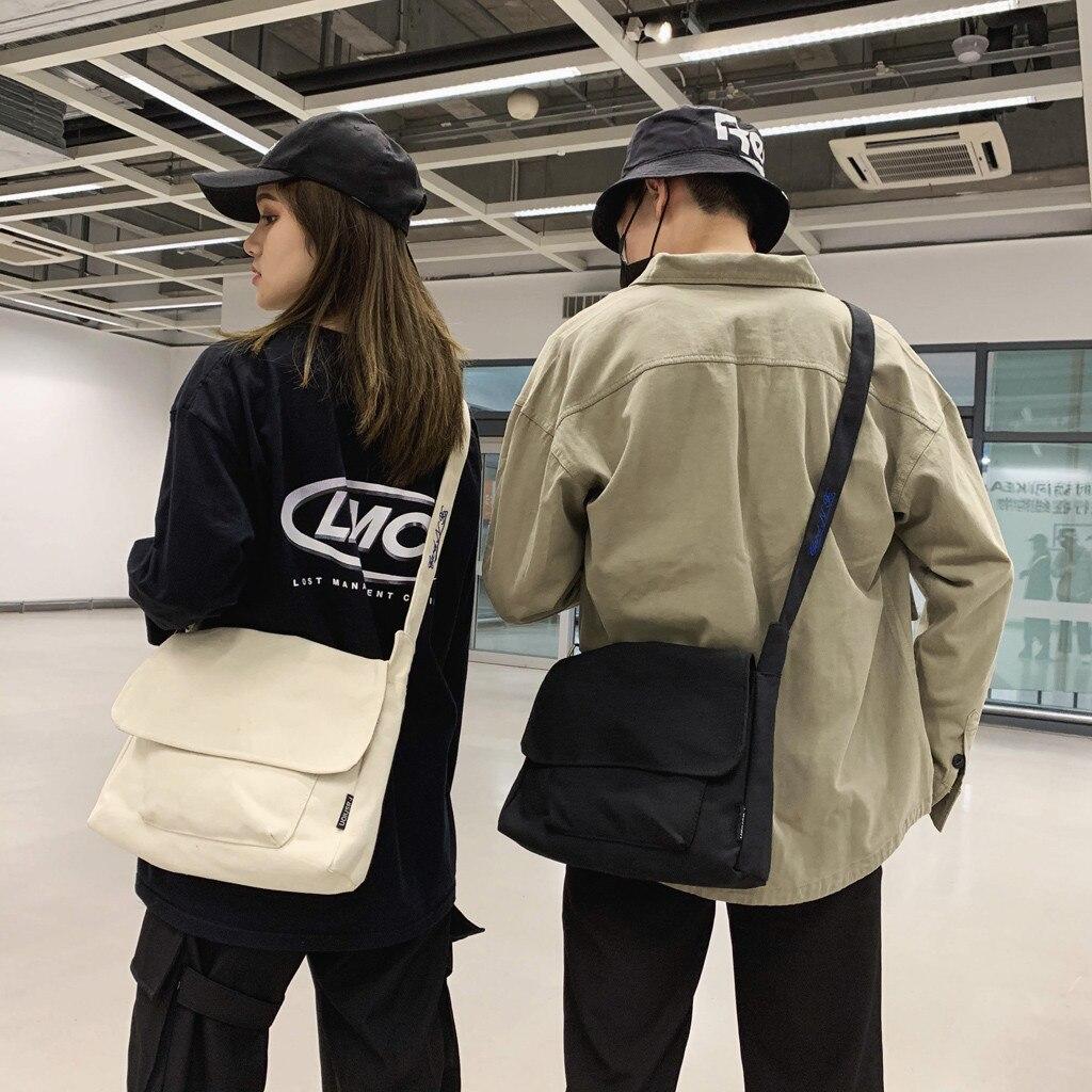 New Unisex Vintage Canvas Hand Bag Bolso Mujer Shoulder Messenger Bag Torebki Damskie Chest Crossbody Bag Sac Embroidery Messeng