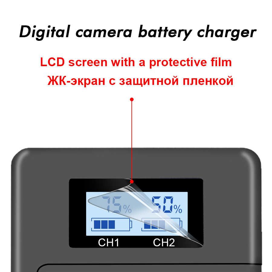 LP-E6n LPE6 LP-E6 E6N ładowarka LCD podwójna ładowarka do canona EOS 5DS R 5D znak II 5D znak III 6D 7D 80D EOS 5DS R kamera