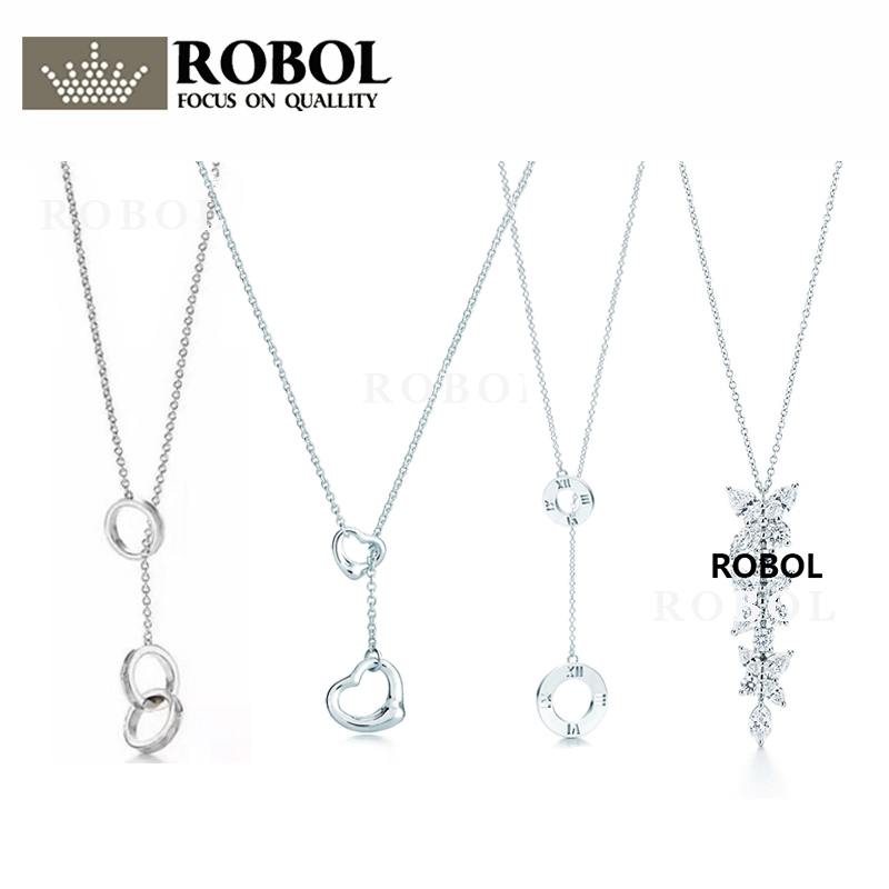 High Quality 1:1 TTFF 925 Sterling Silver New Round Necklace Jewerly Original Design Model Exquisite Craftsmanship.