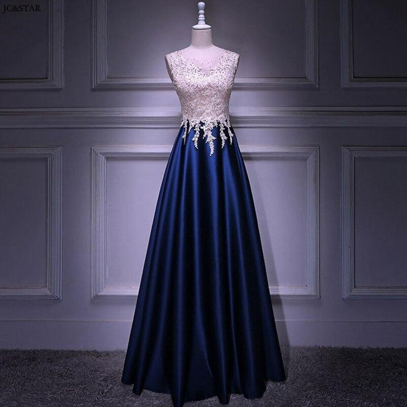 Navy Blue Green Burgundy Wedding Guest Dress New Scoop Neck Lace Satin A Line Vestido Madrinha Long Robe Demoiselle D'honneur