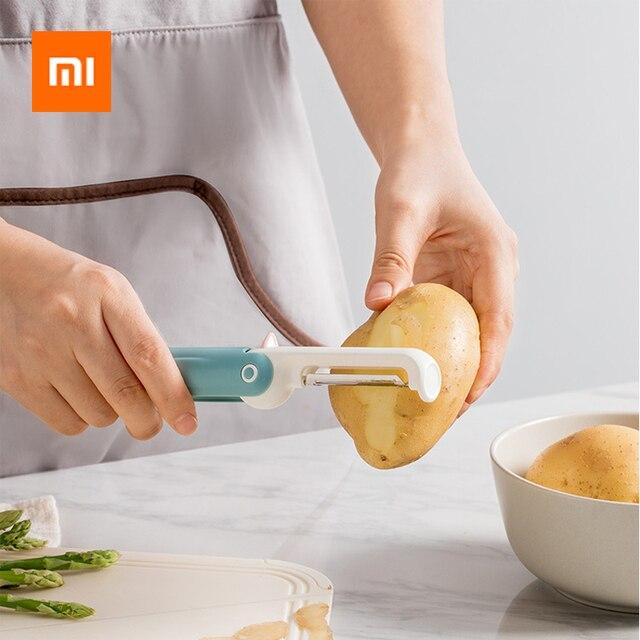 Xiaomi jordanjudyかわいいペンギンフルーツポテトピーステンレス鋼剥離プレーニングナイフポータブル安全キッチンガジェットツール