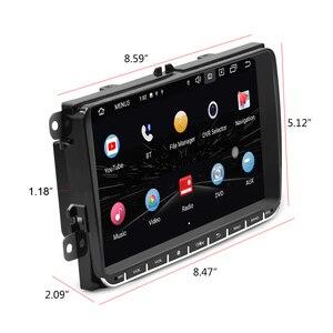Podofo 2din Android Авторадио автомобильный GPS мультимедийный плеер для VW SKODA Octavia GOLF 5 6 PASSAT B6 JETTA сиденье для POLO TIGUA