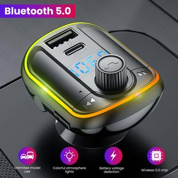 AOSHIKE DC 12V 24V samochodowy zestaw samochodowy z nadajnikiem FM zestaw głośnomówiący bezprzewodowy Bluetooth 5 0 Radio FM 3 1A ładowarka samochodowa USB Audio odtwarzacz MP3 tanie i dobre opinie Car FM Transmitter Bluetooth Nadajniki fm 12 v 150g Car mp3 player 40 5*52 5*83MM MP3 WMA WAV FLAC 87 5-108MHz TF card U disk up to 32G