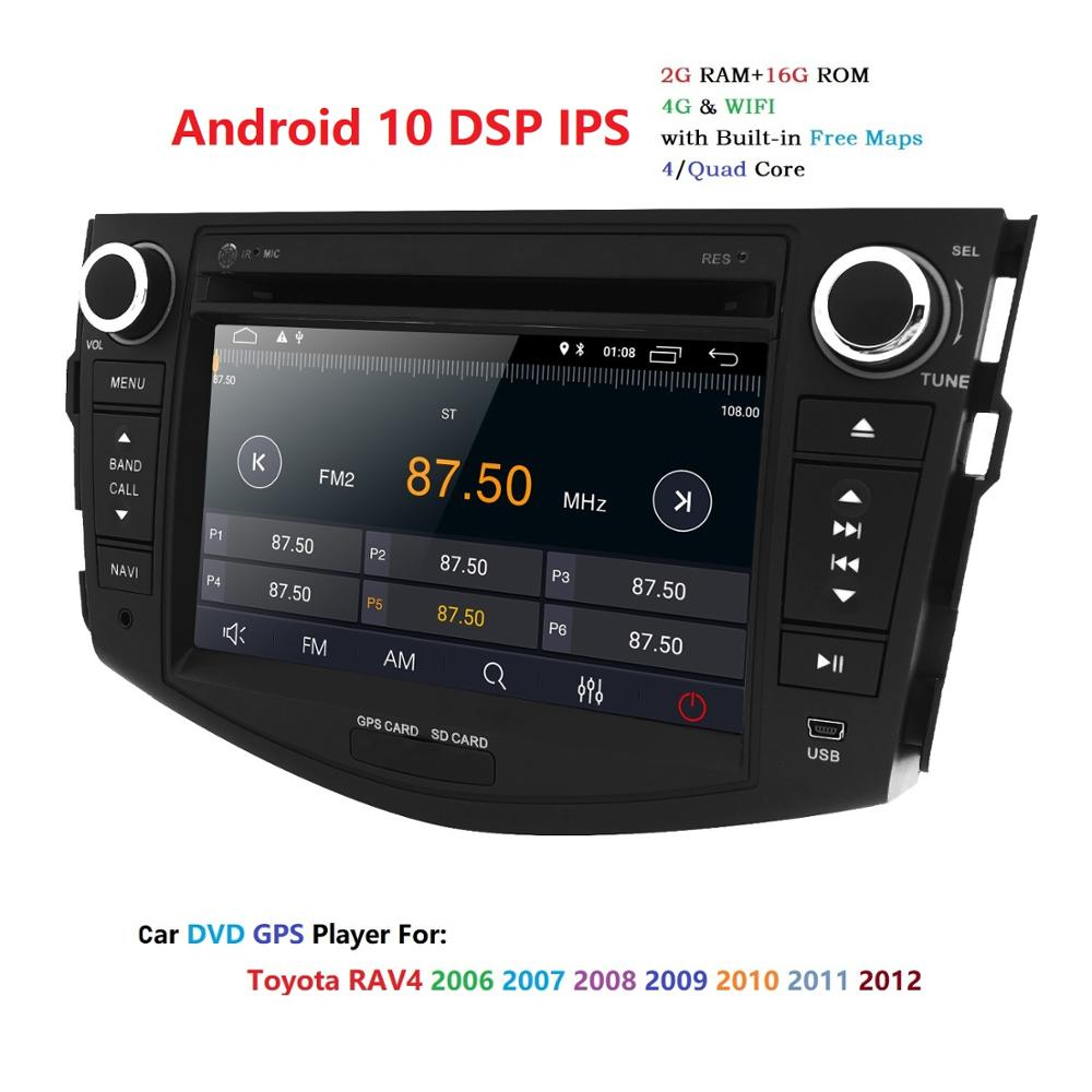 7'' 2Din Android 10 Car DVD Radio Player multimedia GPS Navigation for Toyota rav 4 RAV4 Audio Stereo RDS Wifi image