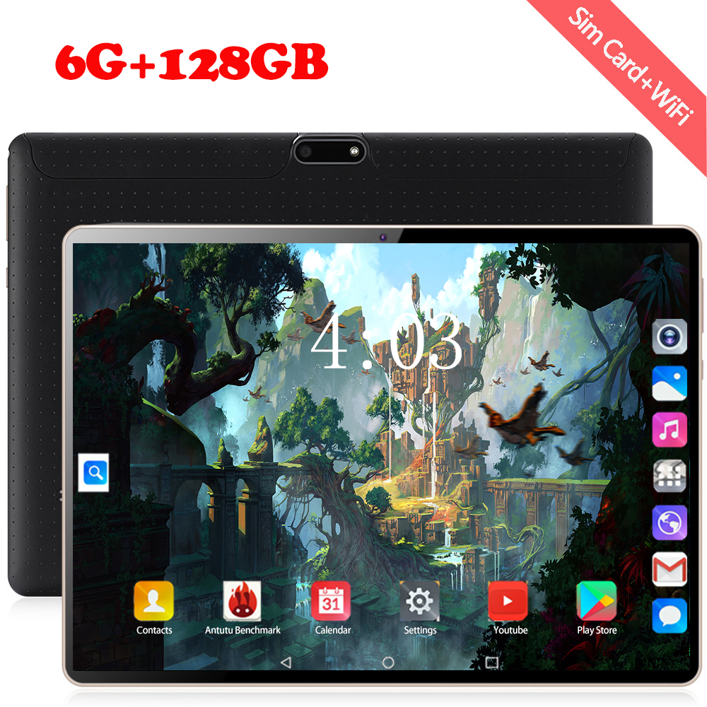 2020 New 6G+128GB Google Store 10.1 Inch Tablet Pc Original 4G Phone Call Android 8.0 10 Core IPS Tablet WiFi Android Tablet Pc