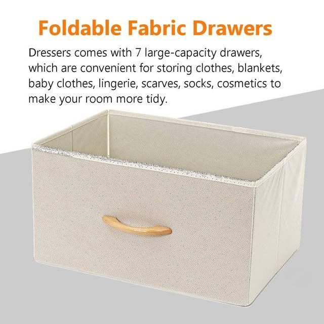 5 Drawers Fabric Dresser  5