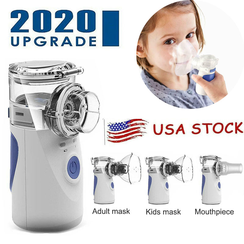 2020 Upgrade Portable Ultrasonic Nebulizer Mini Asthma Inhaler Rechargeable Atomization Nozzle Atomizer for Children Kids Adult