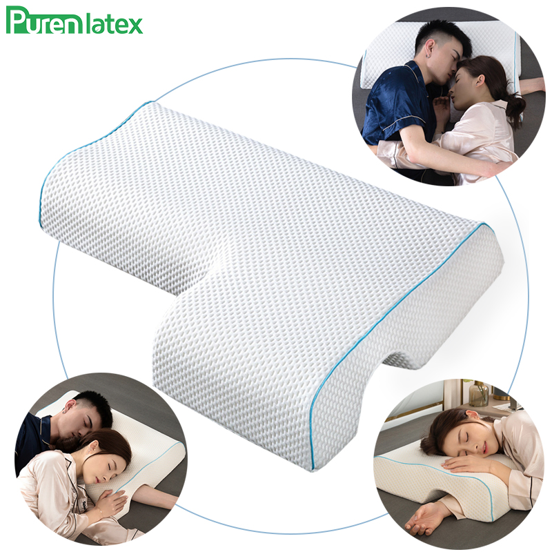 Purenlatex Memory Foam Couple Pillow Arm Pillow For Sleeping No Pressure Side Sleeper For Neck And Shoulder Pain Multifunctional