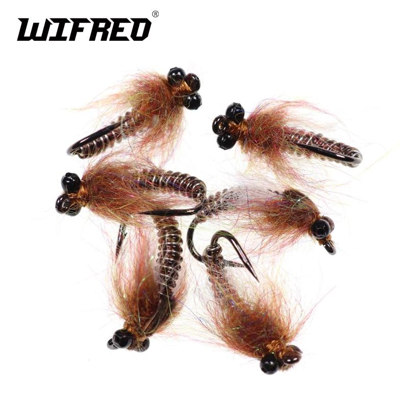2 Flies Perch Fry Glass Epoxy Minnow  Fly Fishing Size 8