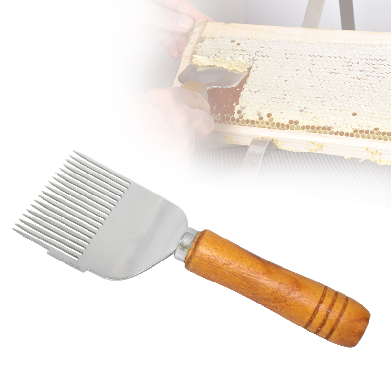 Honey Cutter Scraper Honey Uncapping Fork Wooden Handle Beekeeping Tools Beehive Shovel Scratcher Knife Equipment Honeycomb Tool