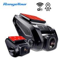 جهاز تسجيل فيديو رقمي للسيارات كاميرا 4K 2160P بناء في نظام تحديد المواقع واي فاي ADAS داش كام الأمامي والخلفي على حد سواء 1080P مسجل قيادة كشف الحركة ليلة فيديو