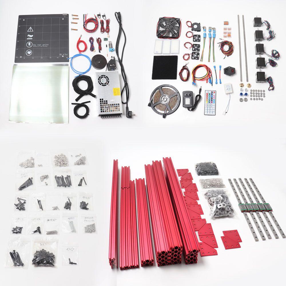 BLV MGN Cube 3d kit de impresora Lite, excluyendo la placa principal y los paneles laterales
