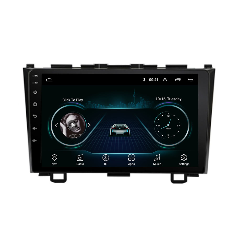 Quad core Android 8.1 Fit HONDA <font><b>CRV</b></font> 2006 2007 <font><b>2008</b></font> 2009 2010 2011 Multimedia Stereo Auto DVD Player Navigation GPS <font><b>Radio</b></font> image