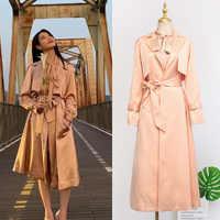 Coreano IU DEL LUNA Hotel Long Trench e Impermeabili Cappotto Femminile delle Donne di Modo Impermeabile 2019 Donne di Autunno Giacca A Vento Donna Vestiti Camicia moda feminina YQ406