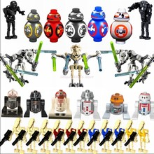 Star Piano Robot R2D2 BB8 Grievous Heavy-Duty Battle Droid Anakin Skywalker K-2SO Blocchi Giocattoli Per I Bambini Wars Star -piano di Figure(China)