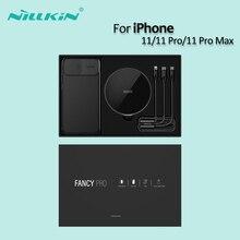 Nillkin conjunto de carregador sem fio para iphone 11/11 pro/11 pro max vem com almofada de carregamento sem fio e protetor caso capa traseira