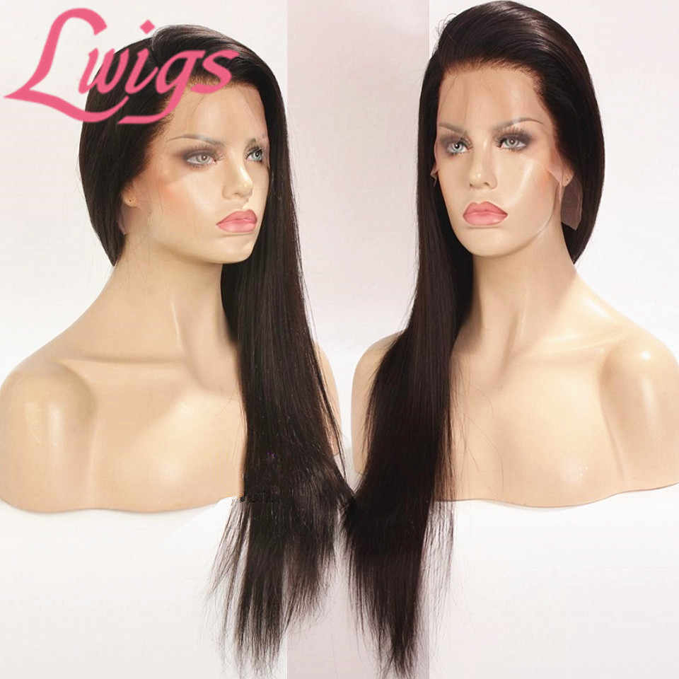 Custom Fake Scalp Full Lace Wig With Baby Hair Straight Full Lace Human Hair Wigs Preplucked Glueless Deep Part Lace Wig Lwigs