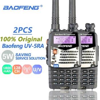 цена на 2pcs Baofeng UV-5RA Ham Radio Dual Band 136-174 & 400-520MHz Baofeng UV-5R UV5R Series Walkie Talkie CB Radio Transceiver Telsiz