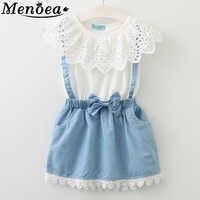 2019 New Girls Cute Dress Children Belt lace sleeveless Bow summer lovely girls clothes 3-7 Year Kids Princess Dresses