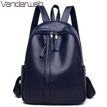 Sac A Dos Femme Famous Brand Backpack Women Backpacks Solid Fashion Girls School Bags for Teenage Girls Leather Women Backpack