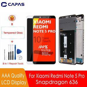 Image 1 - Aaa qualidade para redmi nota 5 pro display lcd 10 tela de toque + quadro para xiaomi redmi nota 5 tela lcd snapdragon 636 display