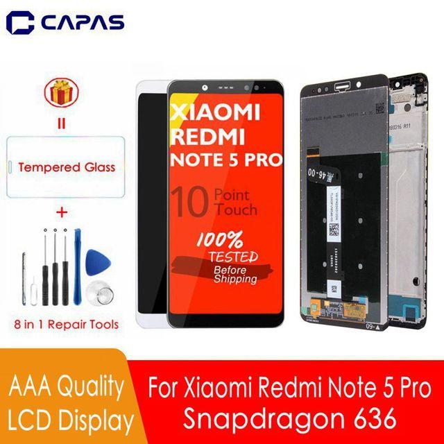 Aaa qualidade para redmi nota 5 pro display lcd 10 tela de toque + quadro para xiaomi redmi nota 5 tela lcd snapdragon 636 display