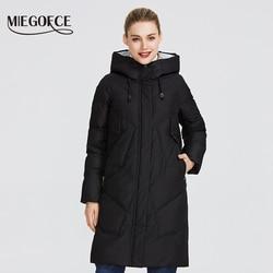 MIEGOFCE 2019 Зимние куртки женские зимняя куртка ветрозащитный пуховик со стойким воротником и капюшоном женская куртка из биопуха что защитит ...
