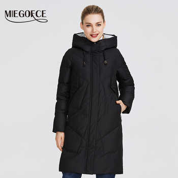 MIEGOFCE 2019 Women Winter Parka Femme Windpro Coat With Stand-Up Collar and Hood That Will Protect From The Cold Women's Jacket - DISCOUNT ITEM  76% OFF All Category