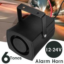 6 Tones Car Police Fire Alarm Horn 12-24V Warning Loud Sound Truck Boat Siren