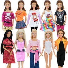 US $3.78 19% OFF|5 set Handmade Fashion Outfit Daily Casual Wear Blouse Shirt Vest Bottom Pants Skirt Clothes For Barbie Doll Accessories-in Dolls Accessories from Toys & Hobbies on AliExpress - 11.11_Double 11_Singles' Day