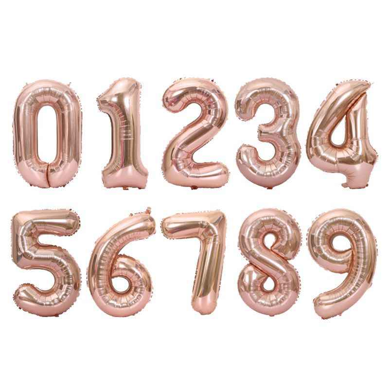 40 Inch Aluminum Foil Large Figure Digital Balloon Silver Decoration Party HOT 9
