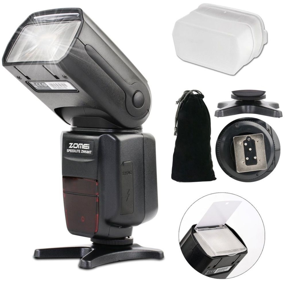 Zomei ZM 580T Auto Focus Speedlite TTL Flash Speedlite High Speed Sync Camera Flash With Radio Slave For Nikon DSRL Cameras|Flashes| |  - title=