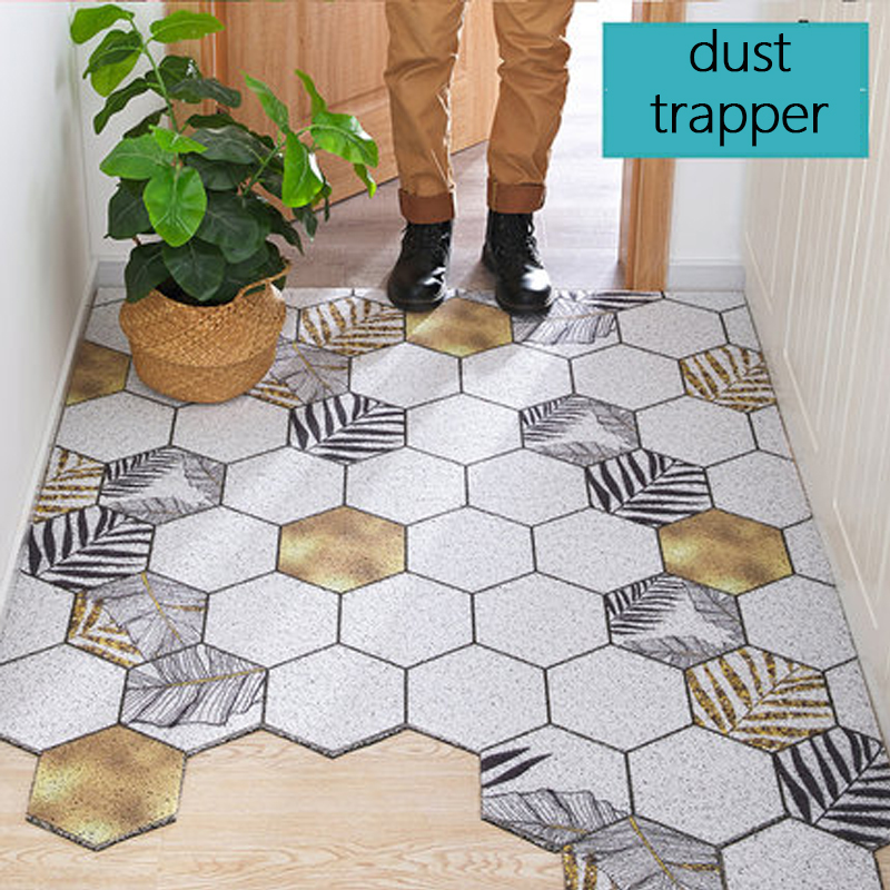 Extra Durable PVC Rubber Door Mat Heavy Duty Diamond Plaid Indoor Outdoor Rug Waterproof Easy Clean Doormat For Entry/Garage