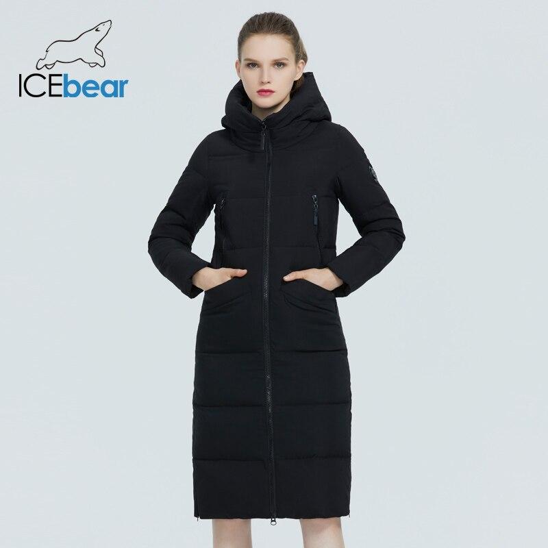 ICEbear 2020 nueva Chaqueta larga de Invierno para mujer, chaqueta de moda cálida para mujer, Parka con capucha, ropa de marca para mujer GWD20301I
