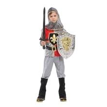 أطفال الطفل الملكي المحارب القرون الوسطى فارس زي للبنين هالوين كرنفال ملابس تنكرية للحفلات