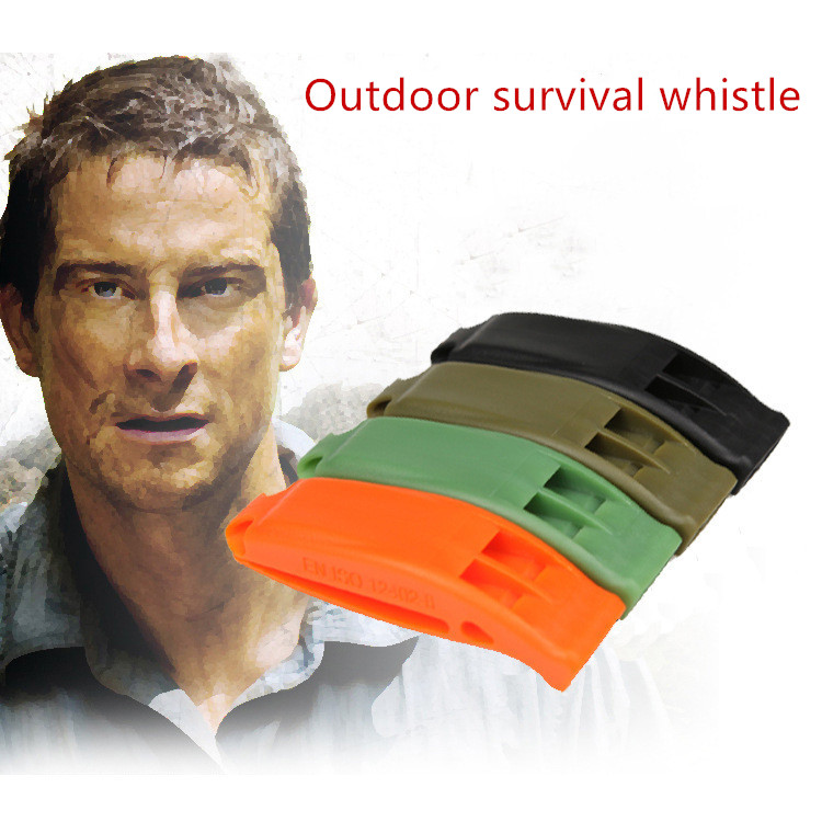 Durable Lightweight Sports Big Sound Whistle Portable Outdoor Survival Rescue Emergency Plastic Loud Whistle With Built In Clip