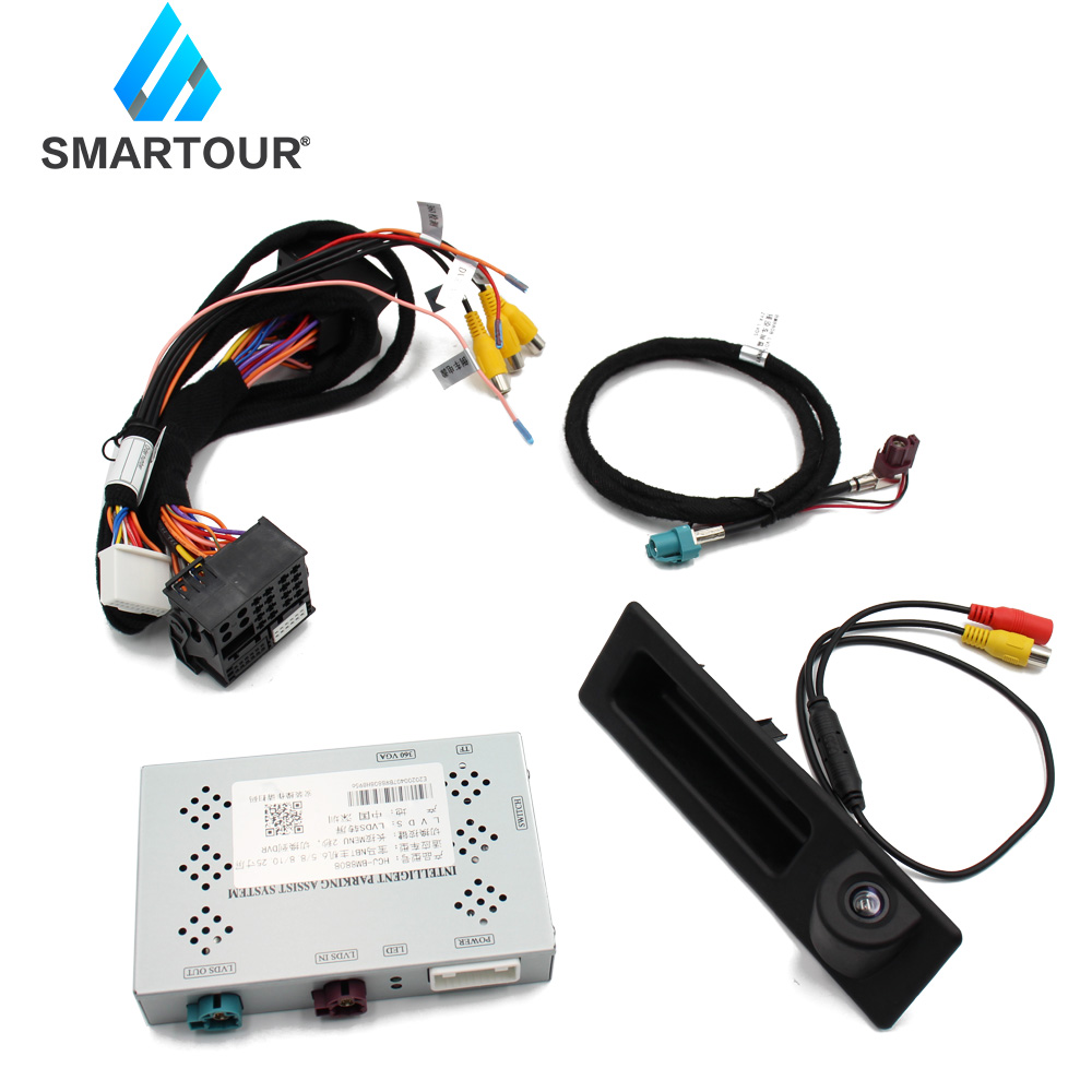 Smartour Inverso dell'automobile Decoder Modulo Telecamera Posteriore di Parcheggio Per BMW 3 F30 F31 F34 2012 ~ 2015 NBT Schermo di Aggiornamento display di Aggiornamento