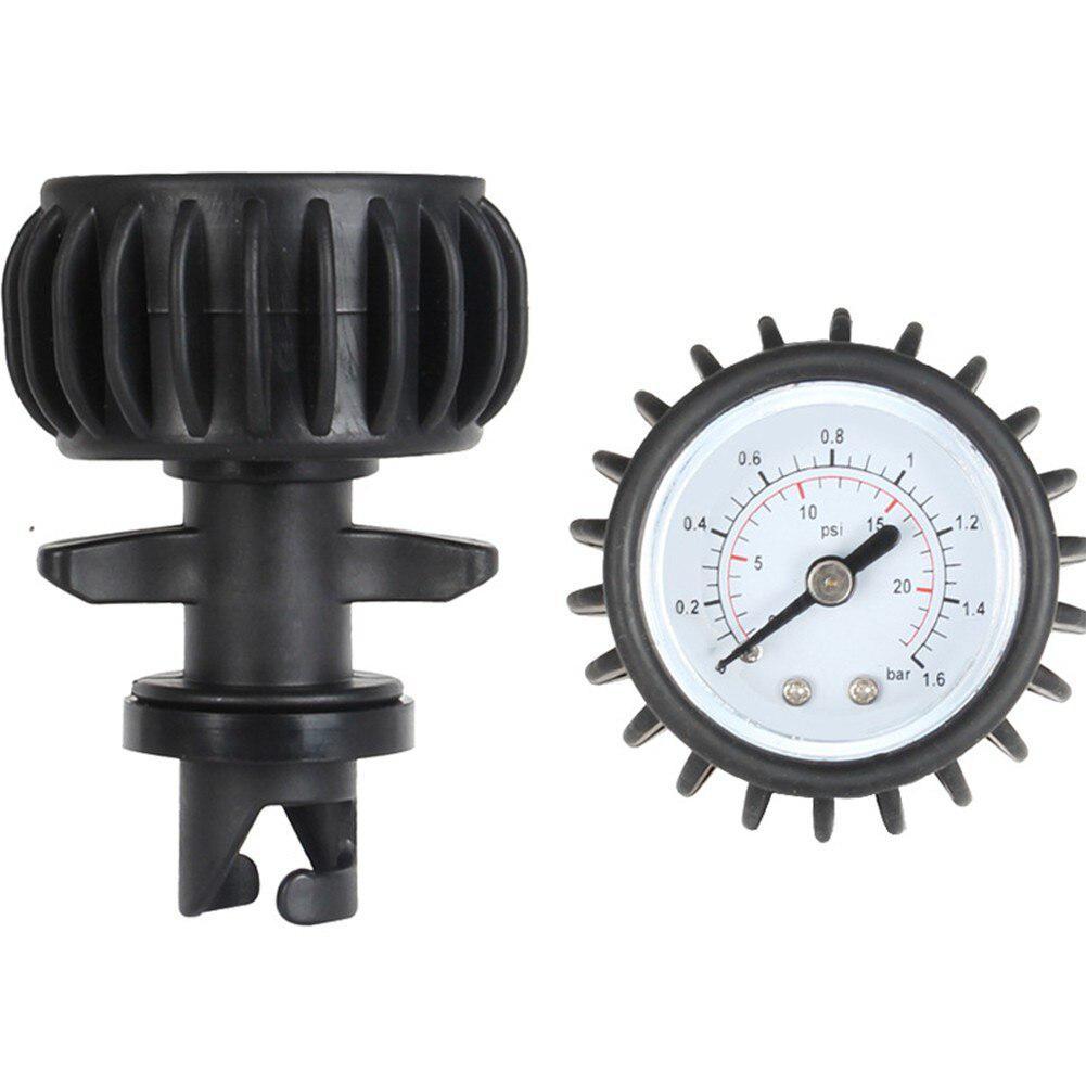 25PSI Barometer Air Pressure Gauge Dial Meter For Inflatable Boat Raft Kayak Black Barometer Rowing Boats Equipment