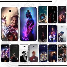 Iron Man DIY Dicat Bling Phone Case untuk Samsung J510 J5 J6 J7 J710 730 737 Neo 2016 2017 2018 inti Pro Duo Neo Perdana(China)