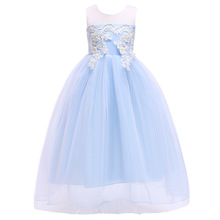 Princess Girls Formal Party Dress Kids Flower Dresses for little Girls Wedding Evening Clothing Ball Gown christmas dress цены онлайн