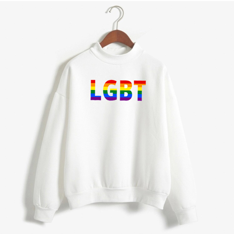 Lgbt Pullover Women Gay Pride 2020 New Rainbow Sweatshirt Harajuku Ullzang Funny Hoodie 90s Graphic Love Is Love Famale Tops