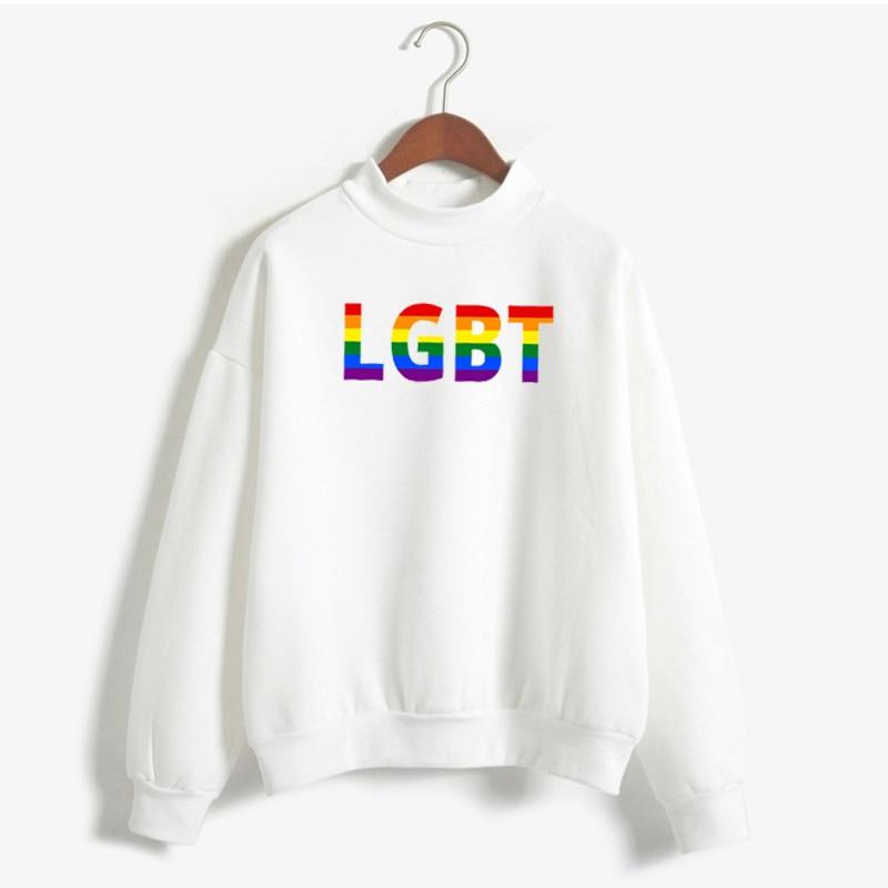 Lgbt Pullover Women Gay Pride 2020 New Rainbow Sweatshirt Harajuku Ullzang Funny Hoodie 90s Graphic Love Is Love Famale Tops