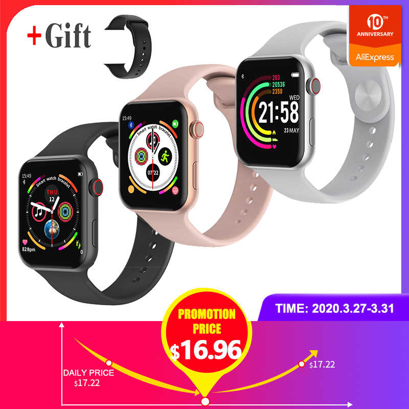 Baru F10 Smart Watch Full Sentuh Layar Bluetooth Smart Watch Kamera Heart Rate Monitor Tahan Air Smart Gelang PK IWatch 4 IWO8