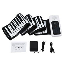 88 клавиш Универсальный гибкий свернутый мягкой клавиатурой пианино для гитарных проигрывателей