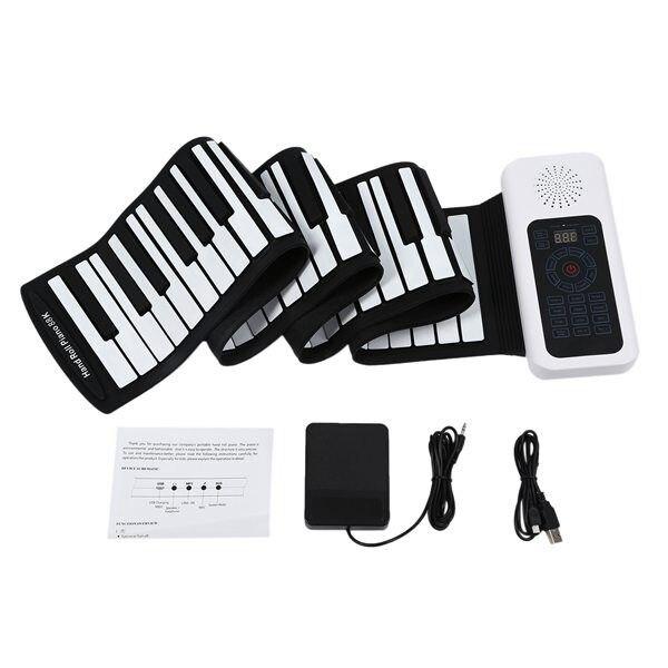 Новый 88 клавиш Универсальный гибкий свернутый мягкой клавиатурой пианино для гитарных проигрывателей